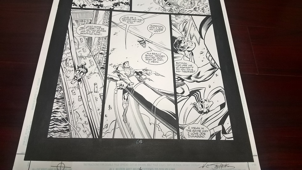 jla incarnations Original art