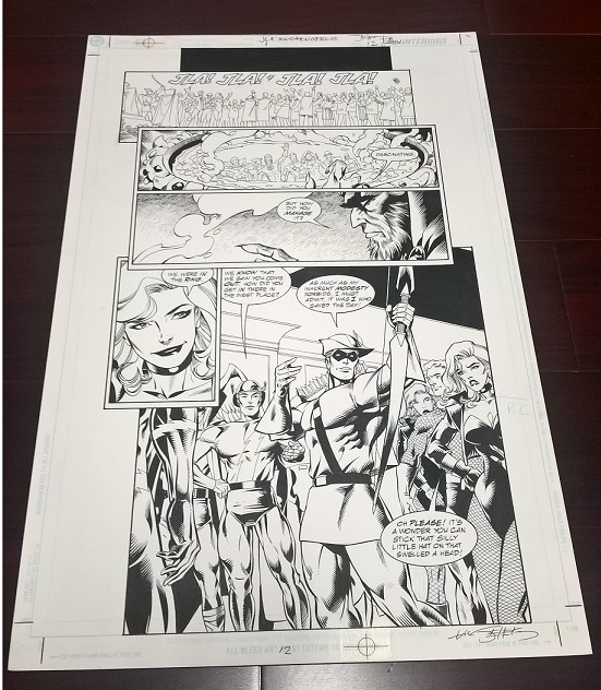 Green Arrow Original Art