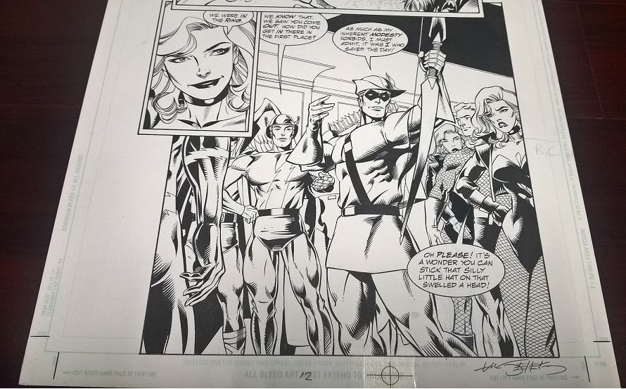 jla green arrow Original art.