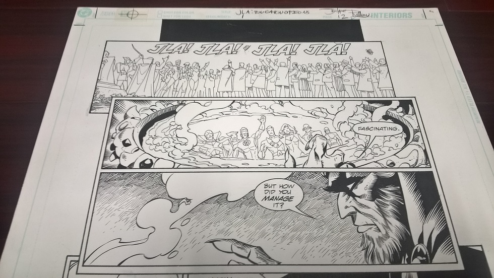 jla green arrow Original art