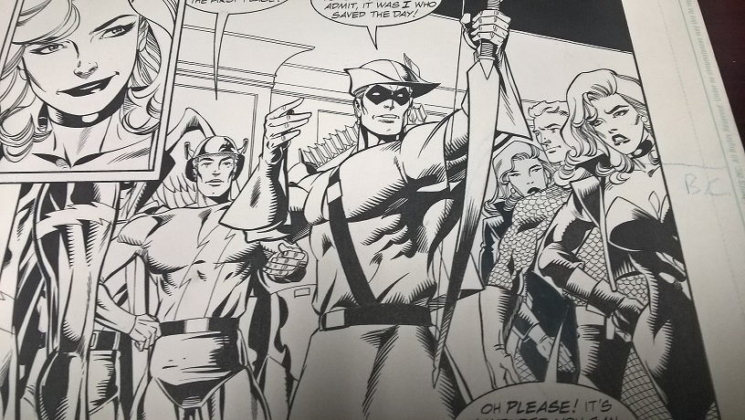 jla Black Canary Original art.