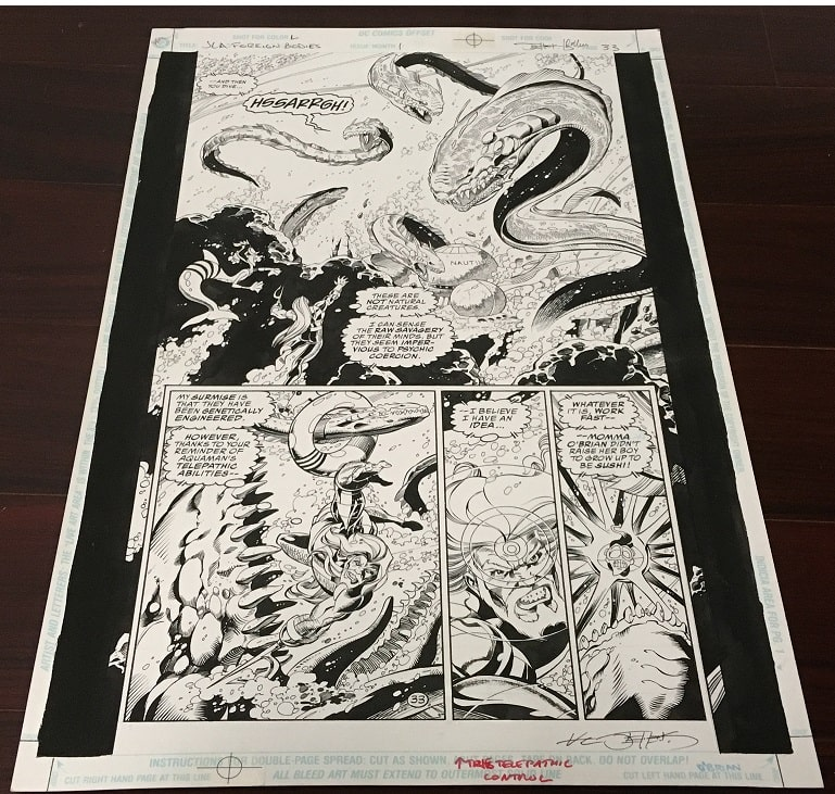 JLA Aquaman Original Art