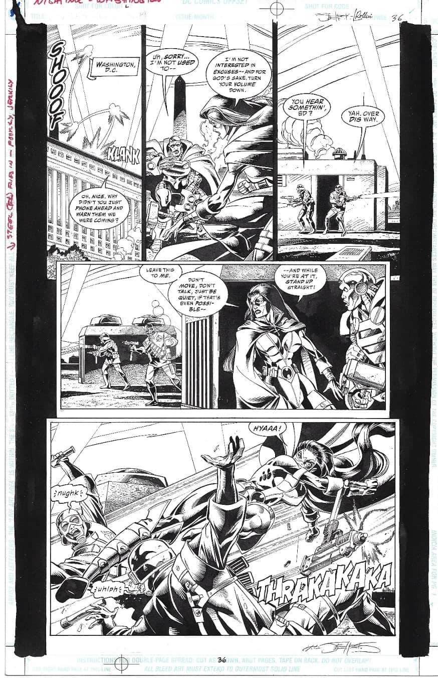 JLA HuntressOriginal Art
