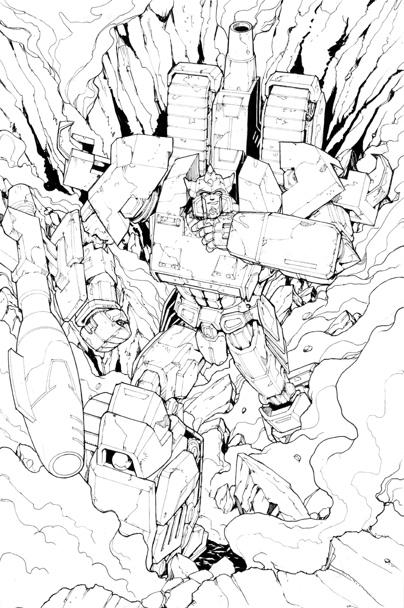 Galvatron Original Art
