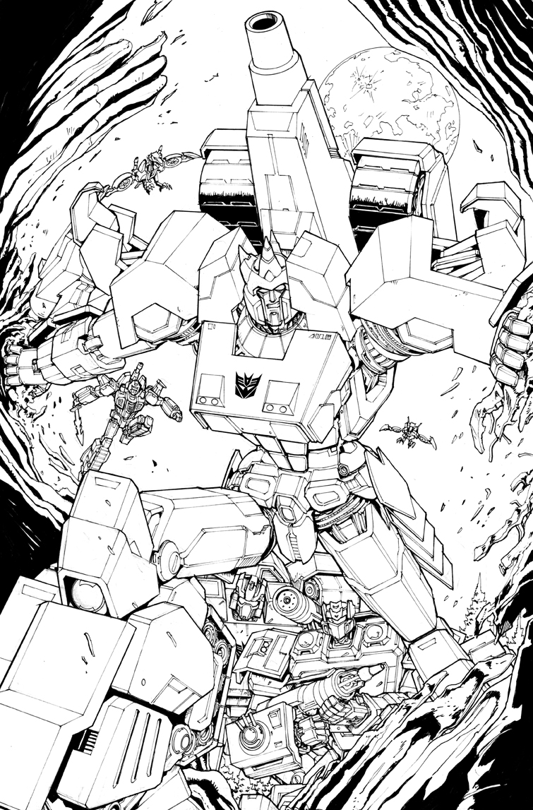 Galvatron Decepticon  Splash Page