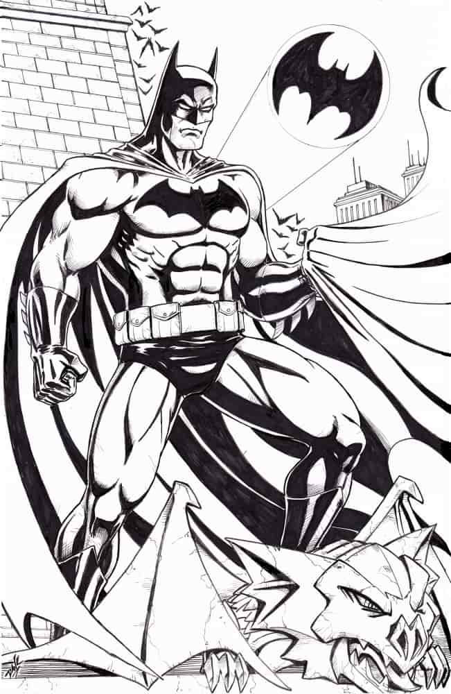 Batman Bruce Wayne. Original Art