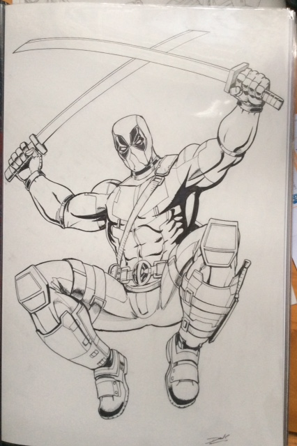 Deadpool, Wade Wilson. Original Art