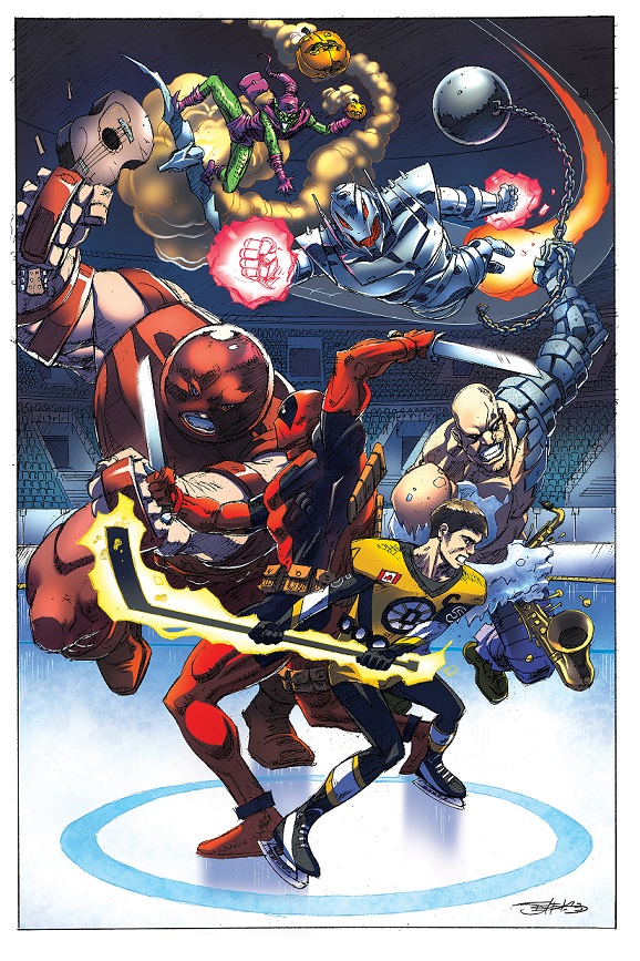 The Juggernaut,Deadpool,Green Goblin, Ultron and Absorbing Man