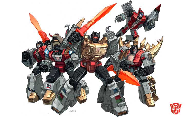 Dinobots Group Shot
