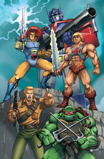 Optimus Prime,Raphael , G.I.Joe, He-Man, and Lino-O