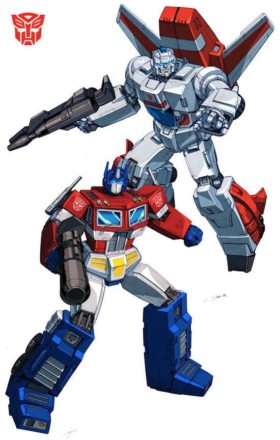 Optimus Prime and Jetfire