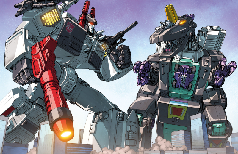 Metroplex vs Trypticon.