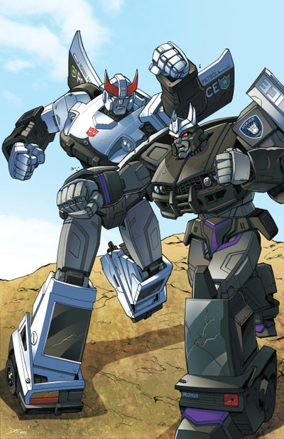 Transformers Prowl vs Barricade