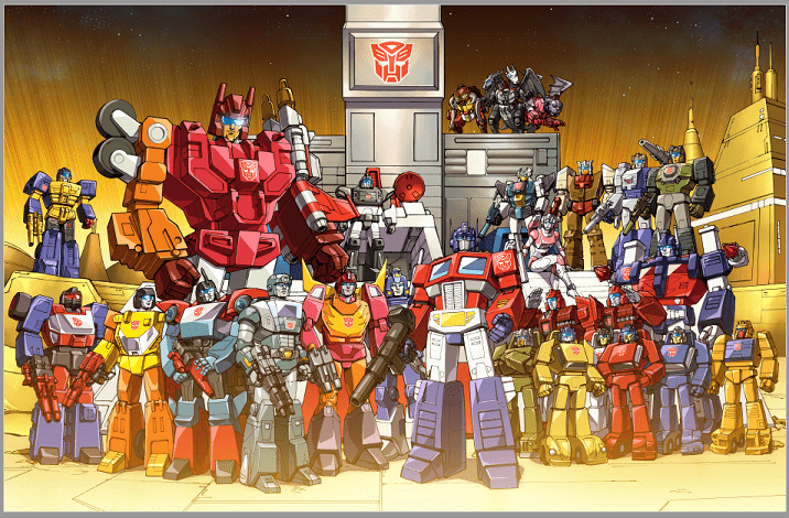Autobots Headmasters and Targetmasters