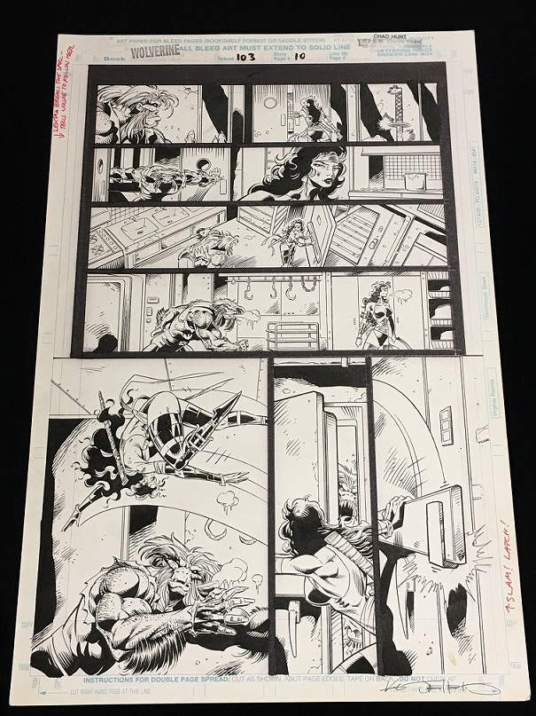 Wolverine Original Art